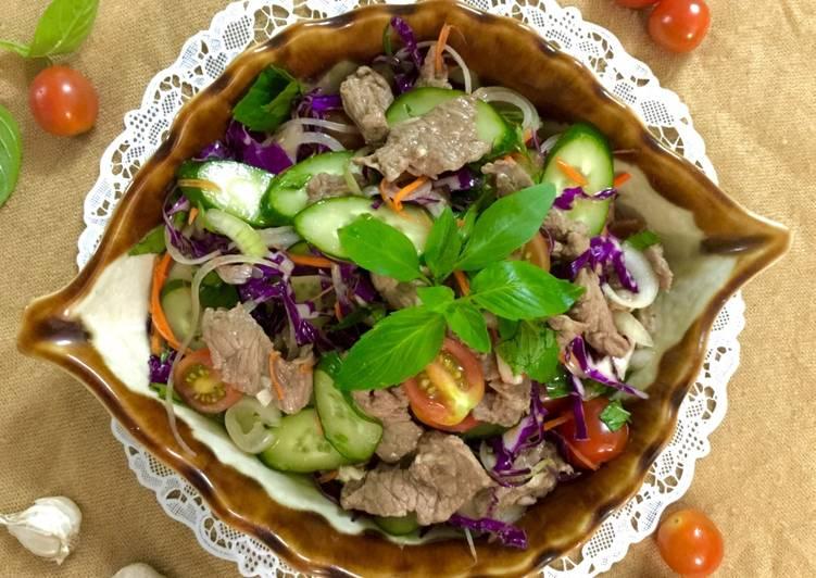 salad bo ngu sac
