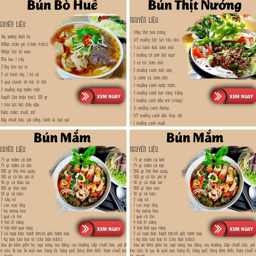 Tất tần tật công thức các món bún ngon nhất Việt Nam phải thứ 1 lần