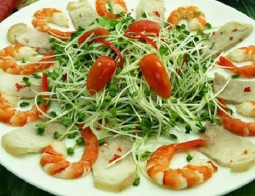 chế biến rau mầm củ cải trắng