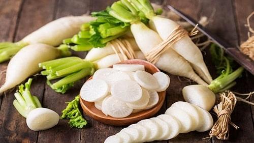 Củ cải trắng luộc