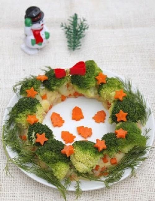 Salad khoai tây-súp lơ xanh