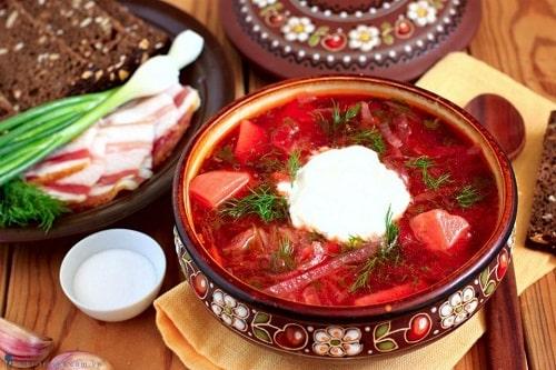 súp củ cải đỏ
